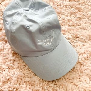 Urban Outfitters Light Blue Heart Hand Hat